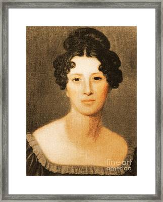 Mary Ann Mantell, English Geologist Framed Print by Science Source