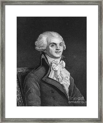 Maximilien Robespierre Framed Print by Granger