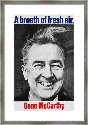 Mccarthy Campaign, 1968 Framed Print by Granger