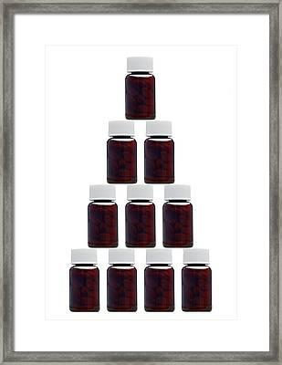 Medicine Bottles, Artwork Framed Print by Victor De Schwanberg