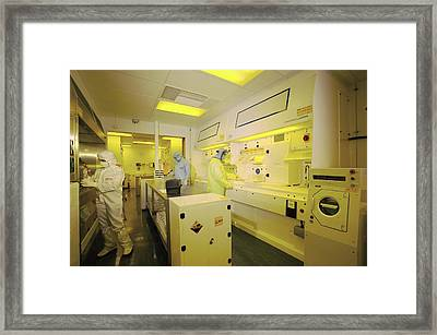 Mems Production, Chemical Etching Framed Print by Colin Cuthbert