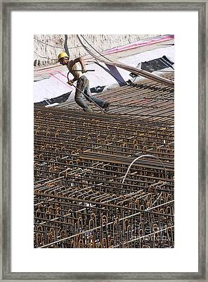 Men At Work Framed Print by Andrew  Michael