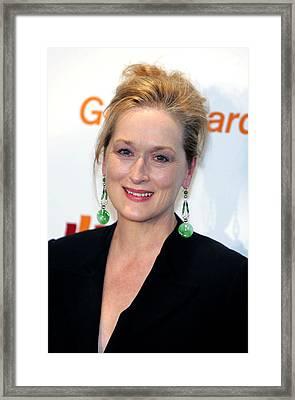 Meryl Streep At Arrivals Framed Print by Everett