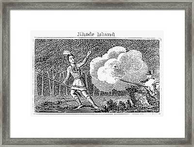 Metacomet (c1639-1676) Framed Print by Granger