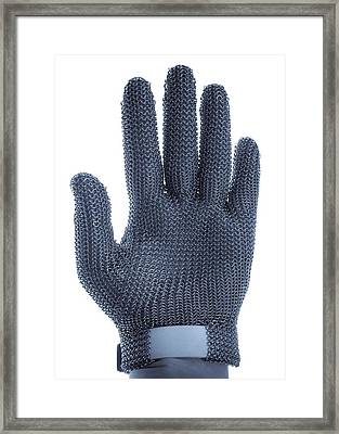Metal Mesh Glove Framed Print by Cristina Pedrazzini