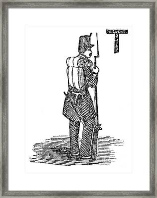 Mexican War: Soldier Framed Print by Granger
