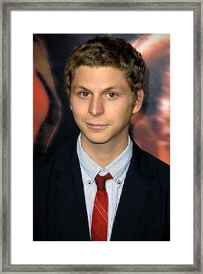 Michael Cera At Arrivals For Premiere Framed Print by Everett