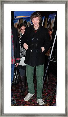 Michael Cera At Arrivals For Youth In Framed Print by Everett