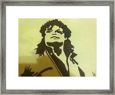 Michael Jackson Framed Print by Damian Howell