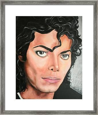 Michael Jackson Framed Print by Timothe Winstead