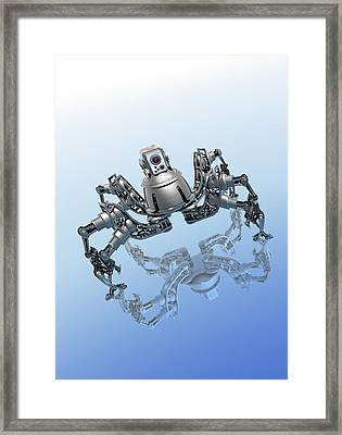 Microrobot, Conceptual Artwork Framed Print by Victor Habbick Visions