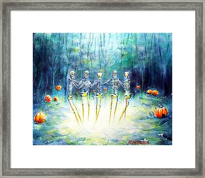 Midnight Pumpkin Ring Framed Print by Heather Calderon