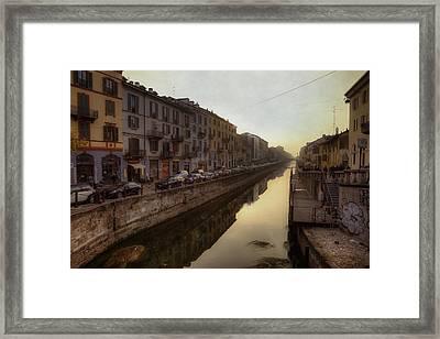 Milan Naviglio Grande Framed Print by Joana Kruse