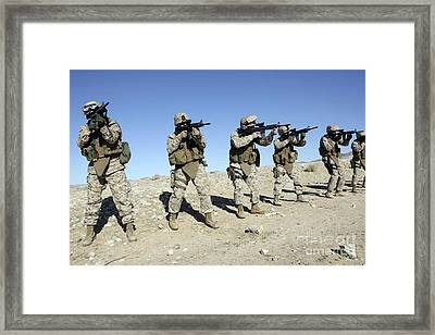Military Transistion Team Members Framed Print by Stocktrek Images