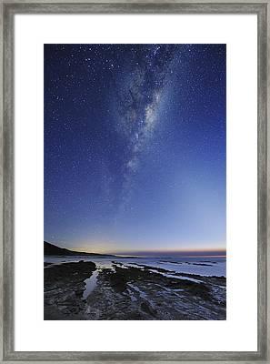 Milky Way Over Cape Otway, Australia Framed Print by Alex Cherney, Terrastro.com
