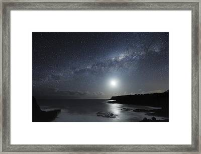 Milky Way Over Mornington Peninsula Framed Print by Alex Cherney, Terrastro.com
