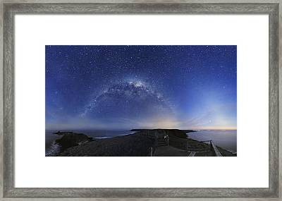 Milky Way Over Phillip Island, Australia Framed Print by Alex Cherney, Terrastro.com
