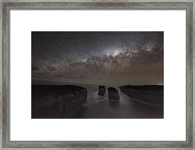 Milky Way Over Shipwreck Coast Framed Print by Alex Cherney, Terrastro.com