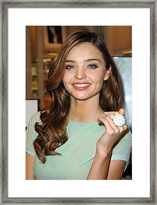 Miranda Kerr At In-store Appearance Framed Print by Everett