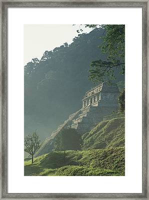 Misty View Of The Temple Framed Print by Kenneth Garrett