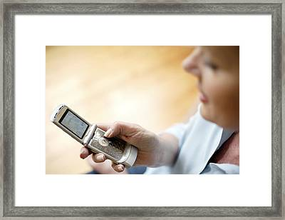 Mobile Telephone Framed Print by Tek Image