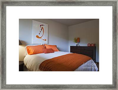 Modern Bedroom Interior Framed Print by Inti St. Clair