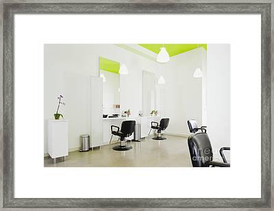 Modern Hair Salon Framed Print by Inti St. Clair