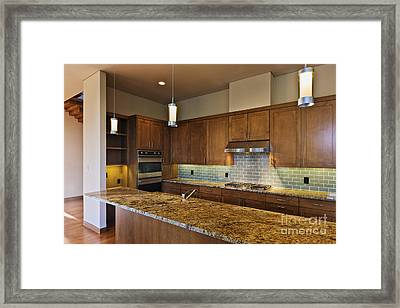 Modern Kitchen Interior Framed Print by Jeremy Woodhouse