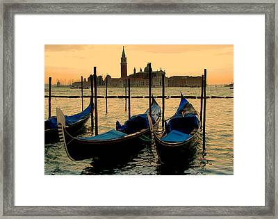 Morning In Venice Framed Print by Barbara Walsh