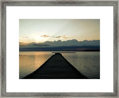 Morning Sunrise B Framed Print by Jonathan Lagace