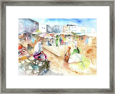 Moroccan Market 01 Framed Print by Miki De Goodaboom