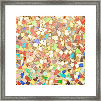 Mosaic Background Framed Print by Tom Gowanlock