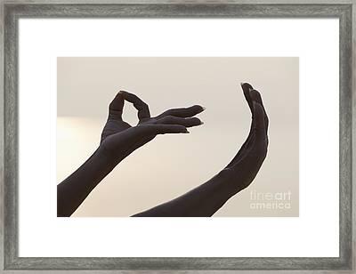Mudra Hand Gesture Framed Print by Roberto Morgenthaler