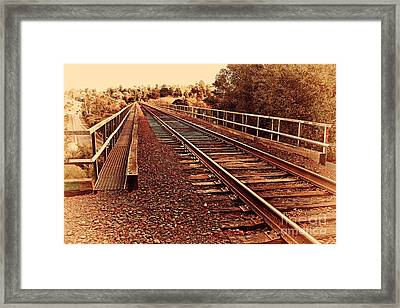 Muir Railroad Trestle In Martinez California . 7d10218 Framed Print by Wingsdomain Art and Photography