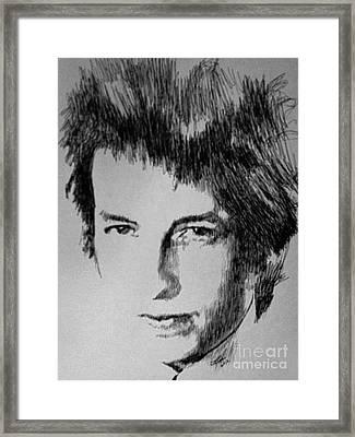 Music Man Framed Print by Robbi  Musser