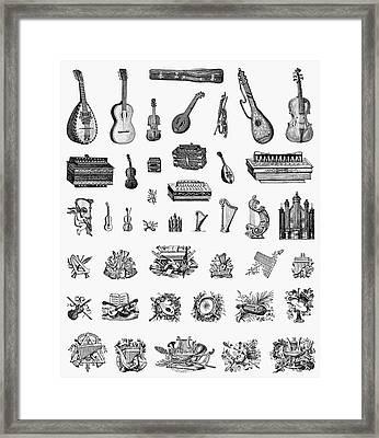 Musical Instruments Framed Print by Granger
