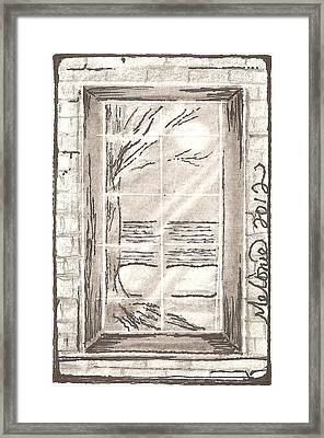 Narrow Viewpoint Framed Print by Melonie King