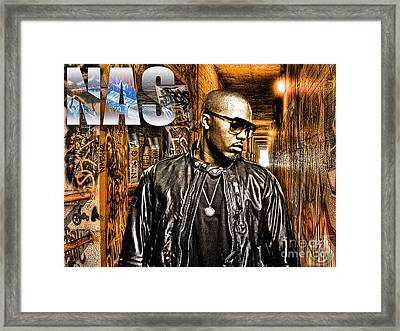 Nas Framed Print by The DigArtisT