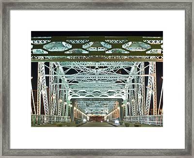 Nashville By Night Bridge 2 Framed Print by Douglas Barnett