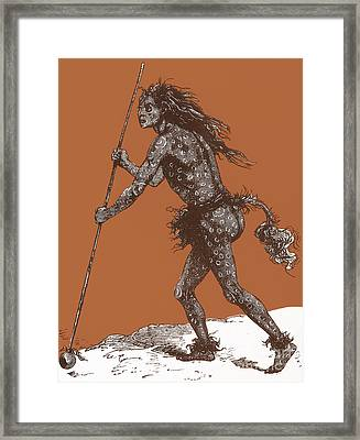 Native American Shaman Framed Print by Science Source