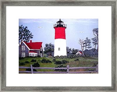 Nauset Lighthouse Painting Framed Print by Frederic Kohli
