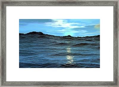 Neptune Framed Print by Christian Darkin