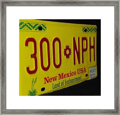 New Mexico Tag Framed Print by Rob Hans