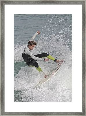 New Smyrna Surfer Framed Print by Deborah Benoit
