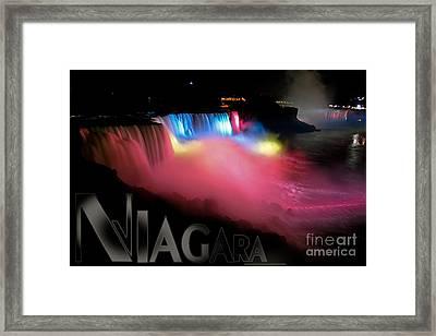 Niagara Falls Postcard Framed Print by Syed Aqueel