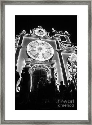 Nighttime Religious Celebrations Framed Print by Gaspar Avila