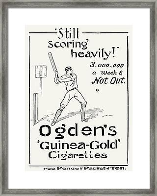 Ogdens Cigarettes, 1897 Framed Print by Granger