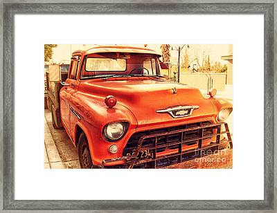 Old American Chevy Chevrolet Truck . 7d10669 Framed Print by Wingsdomain Art and Photography