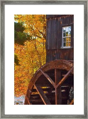 Old Mill Framed Print by Joann Vitali