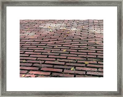 Old Red Brick Road Framed Print by Yali Shi